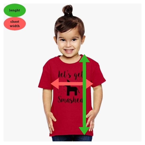 Toddler T-shirt Children's Clothing Sizes
